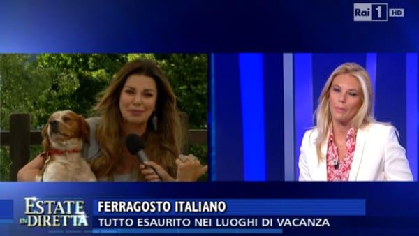 Estate in diretta, furiosa lite tra Alba Parietti e la conduttrice Eleonora Daniele