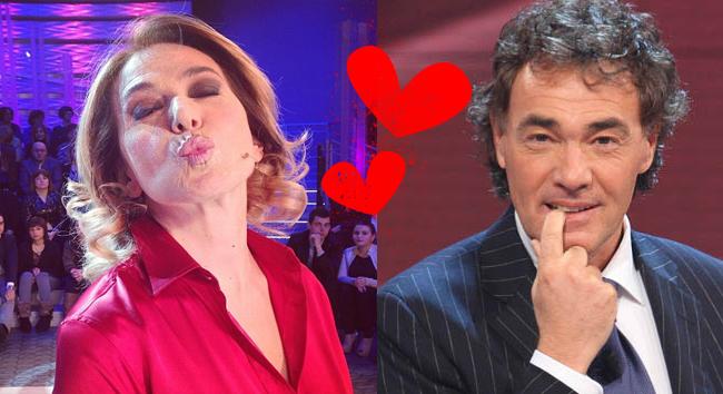 Barbara D'Urso e Massimo Giletti per le strade di Roma si baciano e si stringono