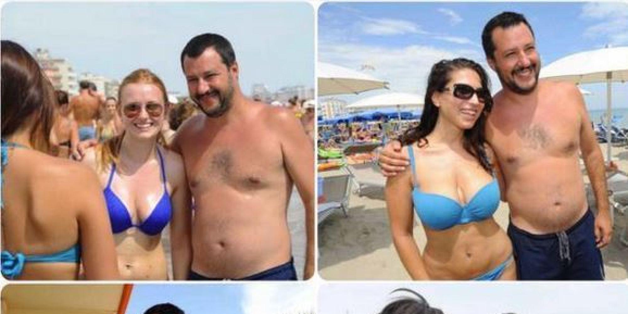 Matteo Salvini a Milano Marittima festa in spiaggia: le foto che non ti aspetti, il web impazzisce