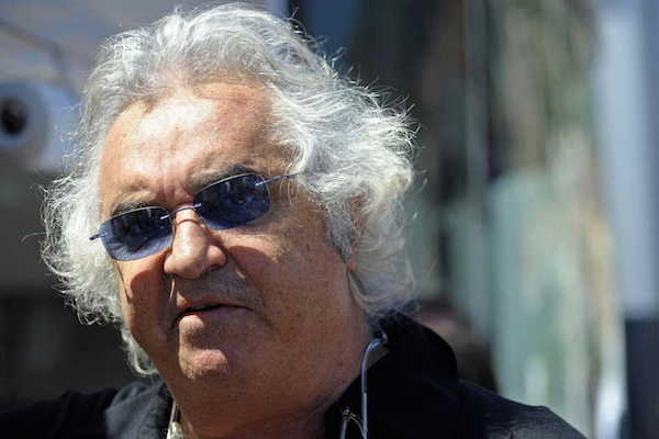 WCENTER 0XMKBDOCAL                 Flavio Briatore in una foto di archivio . ANSA/VINCENT DAMOURETTE