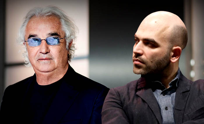 """Saviano critica Briatore e Briatore risponde: """"Con quello che guadagni la scorta pagatela con i tuoi soldi"""""""