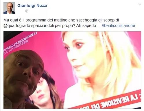 Eleonora Daniele choc, Nuzzi lancia un'accusa pesante, la reazione della Daniele
