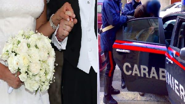 Matrimonio con imprevisto, il giorno più bello si è trasformato in dramma, arrivano i carabinieri e arrestano lo sposo