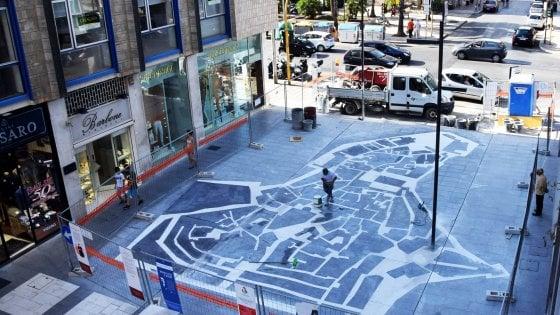 Bari, finalmente alla luce il mosaico di via Sparano, sarà uno dei simboli della città è la mappa di Bari vecchia
