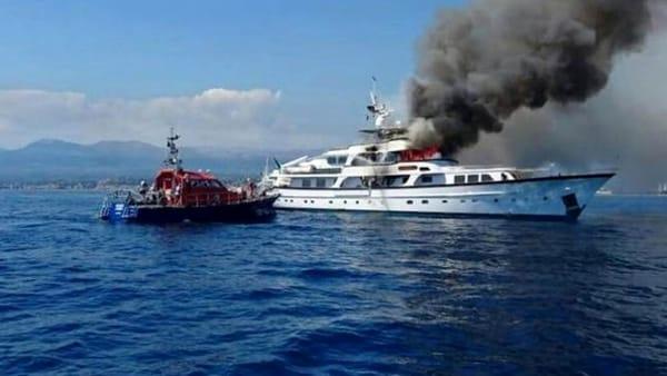 Paura in mare, grosso incendio su uno mega Yacht di una notissima imprenditrice