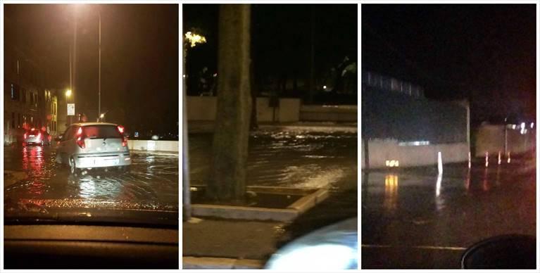 L'estate è finita, bomba d'acqua su Andria, strade allagate e circolazione in tilt