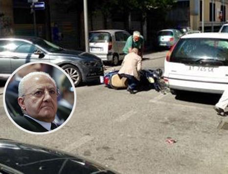 Auto di De Luca contromano: investita ragazza in scooter