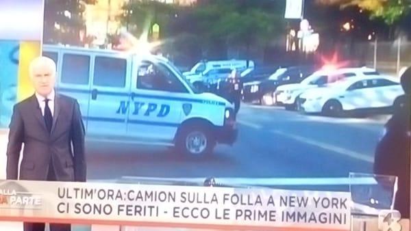 Attentato a New York, spari e veicolo su pista ciclabile, almeno 4 morti e tanti feriti