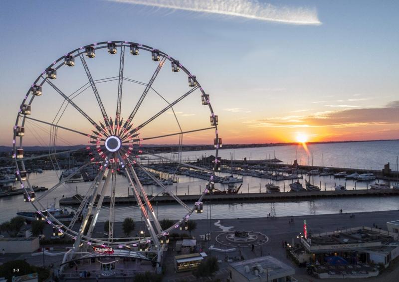 Grande sorpresa a Bari, sul lungomare arriva una gigantesca ruota panoramica una delle più alti in Europa, 55 metri di altezza!