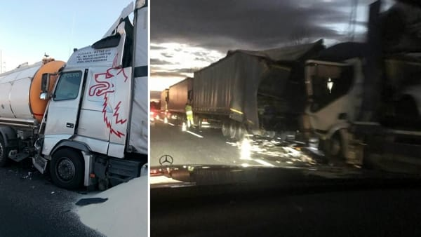 A4 nel caos: carambola fra 5 camion a Portogruaro, riaperta da poco