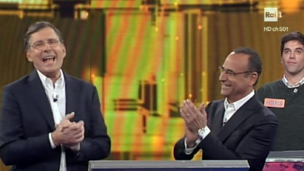 Fabrizio Frizzi torna all'Eredità accanto a Carlo Conti: l'emozionante dichiarazione
