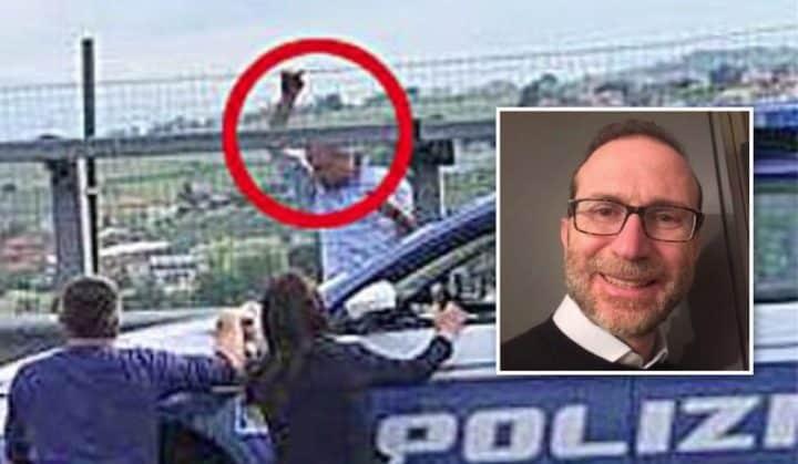 """Le otto ore di follia del manager sul viadotto dell'A14, il psichiatra """"la sua vita era finita 15 mesi fa con la morte della madre"""""""