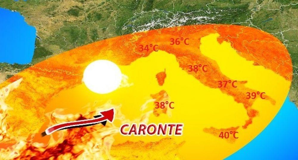 """Ritorna Caronte, weekend con """"bombe di caldo"""", ecco dove si farà più sentire"""