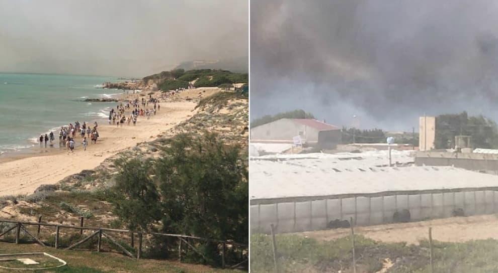 A fuoco il Club Med nel Ragusano, evacuato il villaggio: turisti scappano in spiaggia