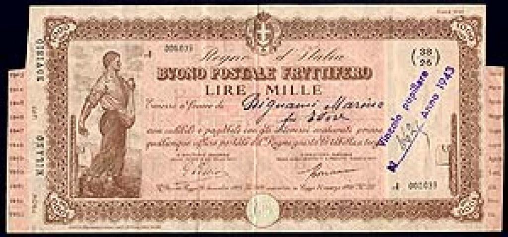 Bari, ritrova un buono postale del 1943 che vale tantissimo ma il ministero non lo vuole riconoscerlo