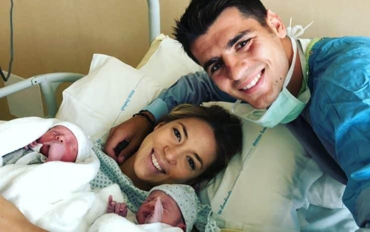 Sono finalmente nati! Ecco i due gemelli della bellissima coppia Alice Campello – Alvaro Morata