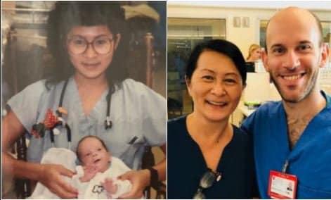 Infermiera salva bimbo prematuro: dopo 28 anni sono colleghi