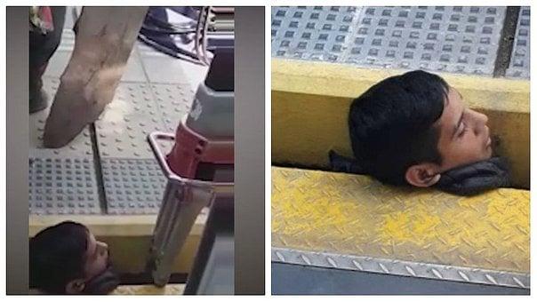 20enne ubriaco rimane incastrato con la testa tra il treno e la banchina