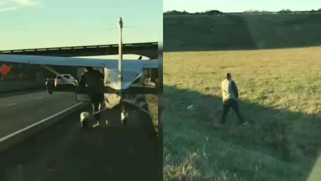 Il pilota di un aereo fa un atterraggio d'emergenza  in autostrada per fare la pipì