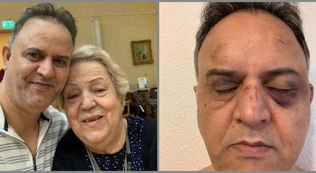 Porta la madre al pronto soccorso aspetta ore senza che nessuno se ne occupi, protesta ma viene picchiato a sangue dalle guardie giurate, la donna il giorno dopo muore