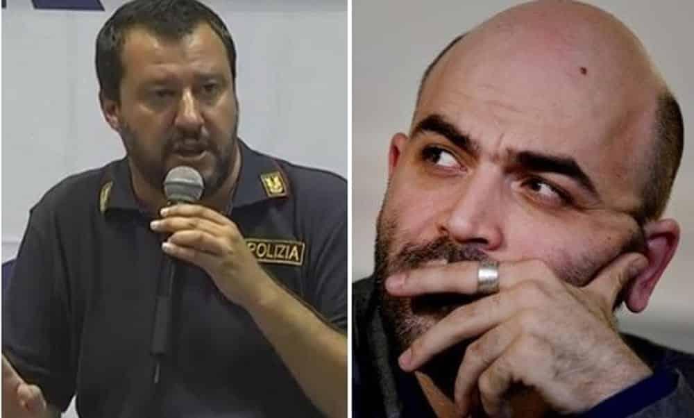 Roberto Saviano durissimo con Salvini, indossare la divisa della Polizia non è un gesto di solidarietà ma d'intimazione