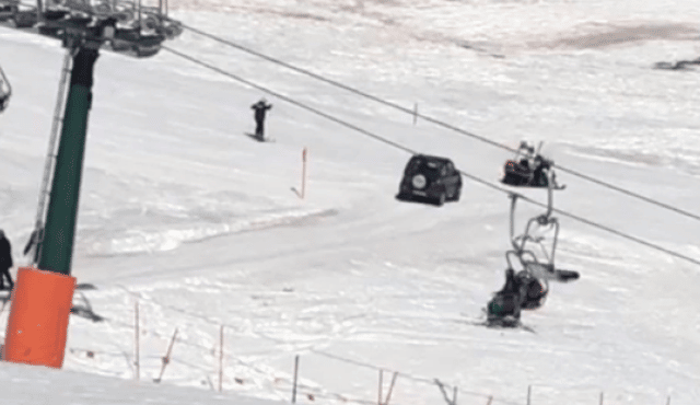 91 enne sbaglia strada e finisce con una jeep su una pista di sci, doveva andare al ristorante