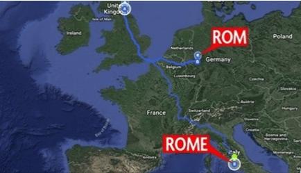 81 enne vuole andare a Roma per vedere il Vaticano e mette in funzione il navigatore, sbaglia e si ritrova a Rom in Germania a 1500 chilometri dalla capitale