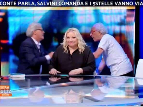 The day after, le rivelazioni clamorose di Vittorio Sgarbi dopo la lite con Mughini in diretta tv a Stasera Italia Estate – VIDEO –