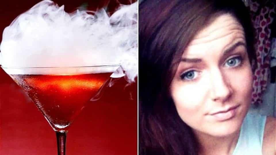 18enne beve un cocktail all'azoto e le succede qualcosa di terrificante, le esplode lo stomaco