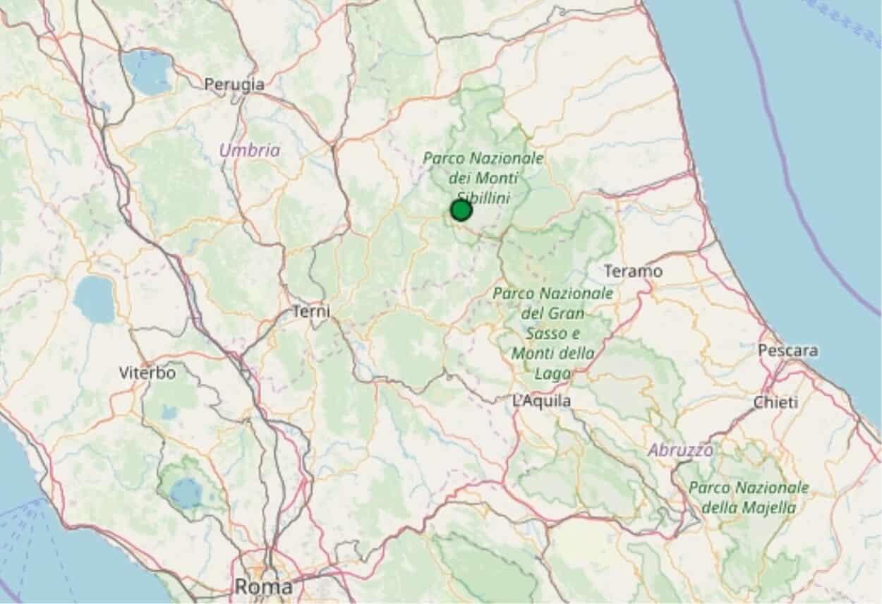 Terremoti in tempo reale, nuova scossa in Umbra, trema la terra in provincia di Perugia
