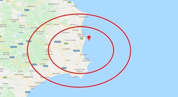 Terremoto in tempo reale, sciame sismico in Calabria, trema più volte la terra a Crotone