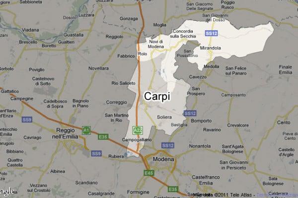 Terremoto in tempo reale, nuova scossa in Emilia trema la terra a Carpi