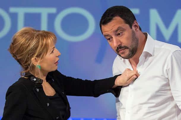 """Maurizio Costanzo a Matteo Salvini, """"ma se tu ti invaghissi di Lilli Gruber?"""", il leader della Lega prima di rispondere prende fiato…"""
