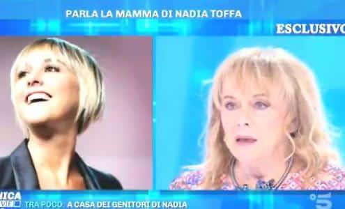 """Domenica In, la toccante intervista di Barbara d'Urso alla mamma di Nadia Toffa,  la madre """"Nadia è qui, è sempre qui"""""""