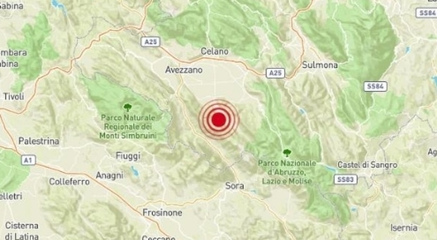 Terremoto in tempo reale nuova scossa tra Lazio e Abruzzo, trema la terra a Sora