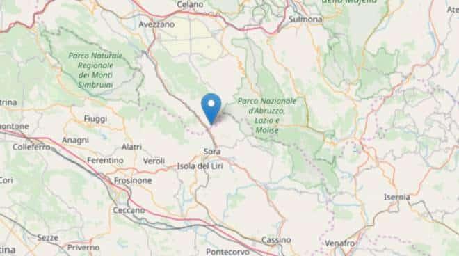 Terremoto in tempo reale, scossa nel Lazio trema la terra a Sora in provincia di Frosinone