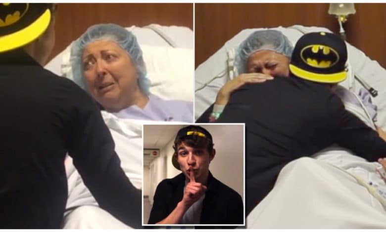 La mamma si deve sottoporre ad un delicato intervento chirurgico e vuole vicino il figlio che vive a 8.000 km lontano, lui le fa una sorpresa meravigliosa