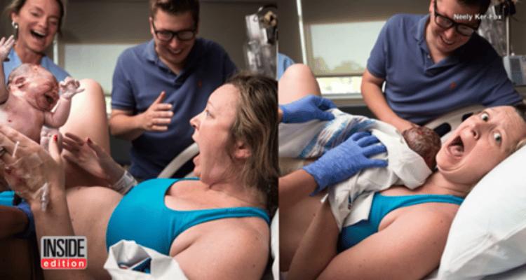 Mamma partorisce ma quando vede il suo bambino la gioia è incontenibile, ecco quale è il motivo
