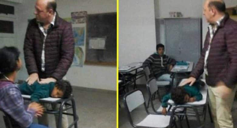 Una ragazza frequenta la scuola ed è mamma, porta in classe il suo bambino e il professore si comporta così.