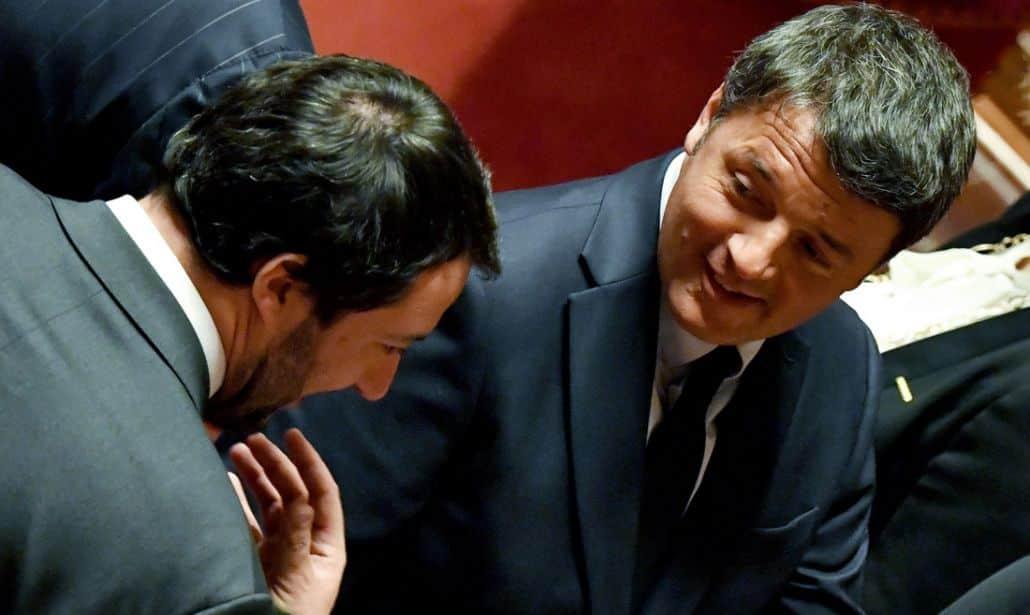 """Matteo Renzi a """"Porta a porta"""" un'alleanza con Salvini, """"mai dire mai"""", poi il suo ufficio stampa smentisce"""