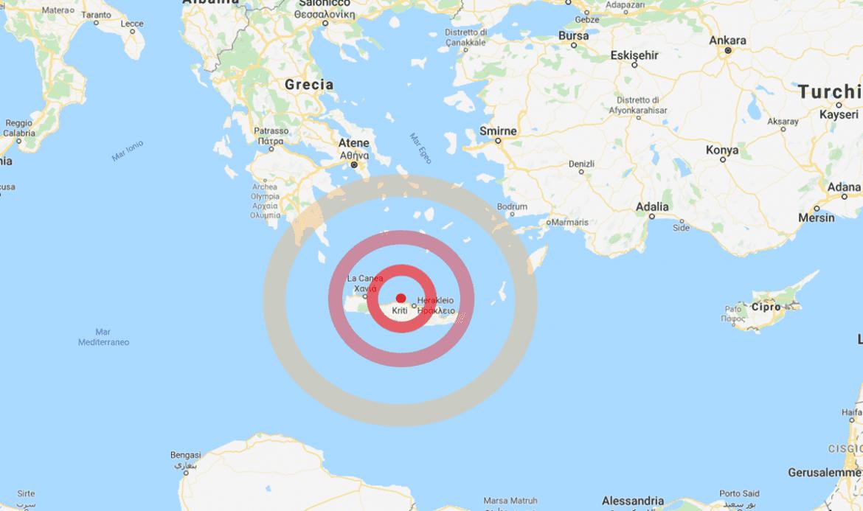 Terremoto oggi, ultime notizie fortissima scossa in Grecia, la terra trema a Creta