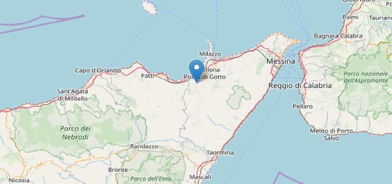 Terremoto in tempo reale, scossa in provincia di Messina, trema la terra in Sicilia