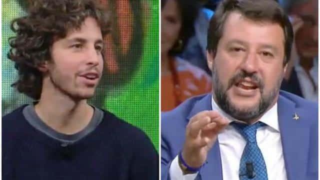 """Matteo Salvini durissimo con Mattia Santori leader delle sardine, """"Il ragazzo non ha chiaro in mente cosa significa democrazia"""""""