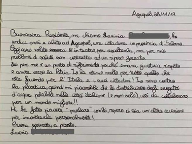 """Giuseppe Conte risponde alla lettera di una bambina di 11 anni, """"Ti prometterò che ti incontrerò così mi darei i tuoi progetti per un mondo migliore"""""""