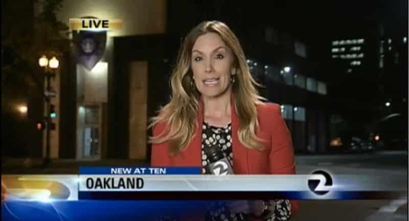 Giornalista derubata della sua carta di credito mentre faceva servizio televisivo su una rapina