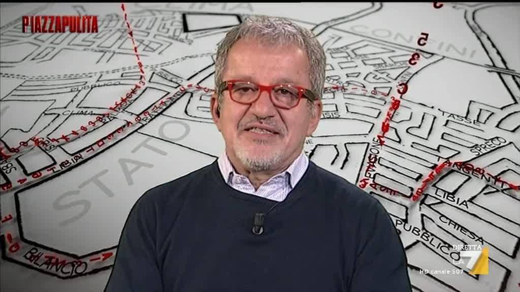 Scintille a PiazzaPulita tra Formigli e Roberto Maroni per la citofonata di Matteo Salvini a Bologna alla famiglia tunisina