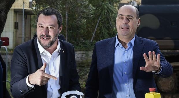 """Duro faccia a faccia Salvini – Zingaretti, il leader della Lega """"stravincere alle regionali per cancellare il Pd"""", il segretario Dem """"Il Pd non lo distruggerai mai"""""""