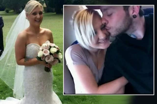 Giovane donna si sposa ma rimane incastrata nel suo strettissimo abito da sposa, il marito innervosito dall'inconveniente la prima notte di nozze l'ha picchiata