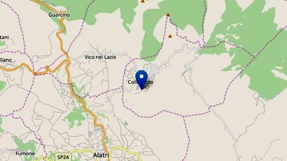 Terremoto in tempo reale, scossa nel Lazio, trema la terra a Frosinone