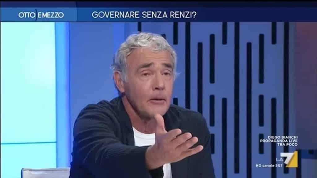 """Giletti a Otto e Mezzo su La7 """"Sardine partigiani del terzo millennio? Ho troppo rispetto per i partigiani, meglio lasciare stare"""""""